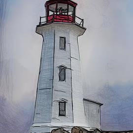 John Haldane - Peggys Cove Lighthouse Drawing