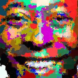Samuel Majcen - Pele Portrait - Abstract
