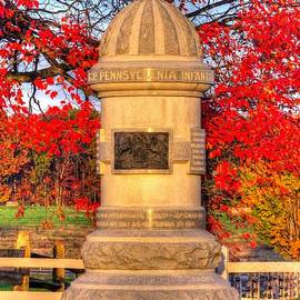 Michael Mazaika - Pennsylvania at Gettysburg - 63rd PA Volunteer Infantry - Sunrise Autumn Steinwehr Avenue