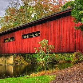 Michael Mazaika - Pennsylvania Country Roads - Bowmansdale - Stoner Covered Bridge Over Yellow Breeches Creek - Autumn