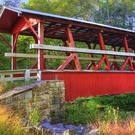 Michael Mazaika - Pennsylvania Country Roads - Colvin Covered Bridge Over Shawnee Creek - Autumn Bedford County