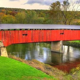 Michael Mazaika - Pennsylvania Country Roads - Dellville Covered Bridge Over Sherman Creek No. 10B - Perry County