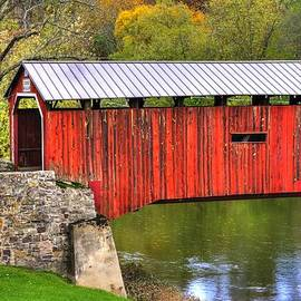 Michael Mazaika - Pennsylvania Country Roads - Dellville Covered Bridge Over Sherman Creek No. 6B - Perry County