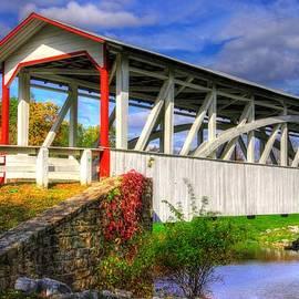 Michael Mazaika - Pennsylvania Country Roads - Halls Mill Covered Bridge - Hopewell Township Bedford County Autumn
