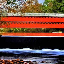 Michael Mazaika - Pennsylvania Country Roads - Sachs Covered Bridge - Marsh Creek - Adams County Autumn