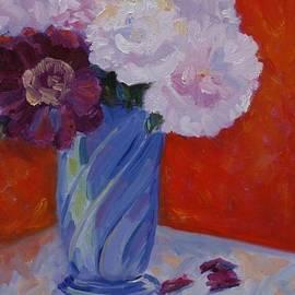 Barbara Benedict Jones - Peonies in a Blue Vase