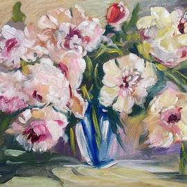 Elena Sokolova - Peons In Blue Vase