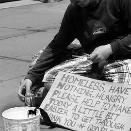 Miriam Danar - People of New York - Homeless Have Nothing Hungry