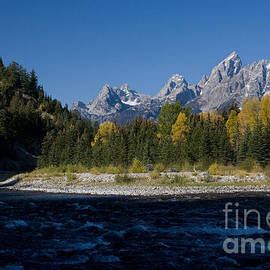 Karen Lee Ensley - Perfect Spot for Fishing with Grand Teton Vista