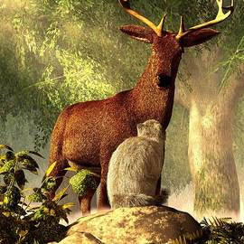 Daniel Eskridge - Persian Cat and Deer