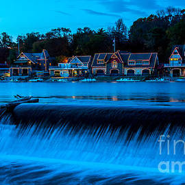 Gary Whitton - Philadelphia Boathouse Row at Sunset