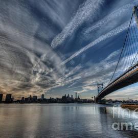 Mark Ayzenberg - Philadelphia Skyline - Camden View of Ben Franklin Bridge