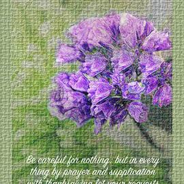 Debbie Nobile - Philippians 4v6 Textured Floral