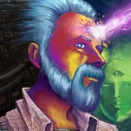 Brian Gilbert - Phillip K. Dick Portrait