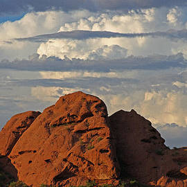 Tom Janca - Phoenix Papago Park With Thunderstorm