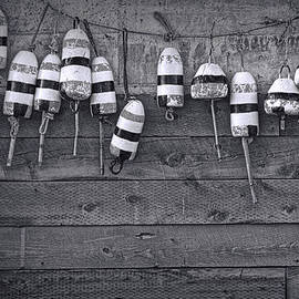 Randall Nyhof - Photograph of Maine Fishing Buoys No. 090 in Black and White