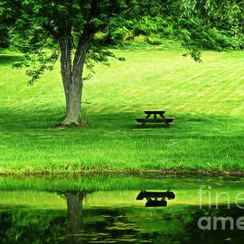 Dawn Gari - Picnic Table By The Lake