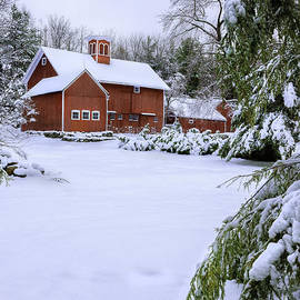 Thomas Schoeller - Picturesque Red New England Barn - Winter Portrait