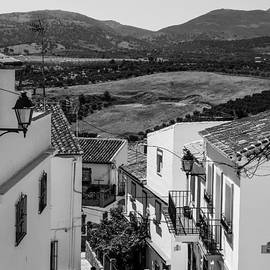 Jenny Rainbow - Picturesque Streets of Ronda. Spain. Black and White