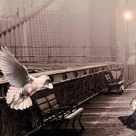 Schwartz - Pigeons on the Brooklyn Bridge