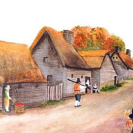 Patty Kay Hall - Pilgrims Plymouth Plantation in the fall