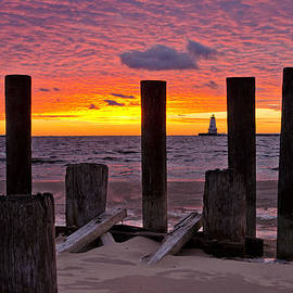 Scott Gordon - Pilings sunset