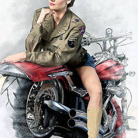 Mary AD Art - Pin-up Biker