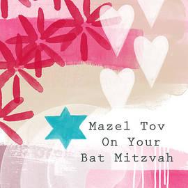 Linda Woods - Pink and White Bat Mitzvah- Greeting Card