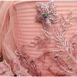 Kathy Barney - Pink Beaded Scarf with Jewels