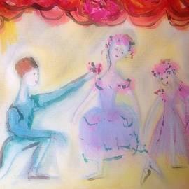Judith Desrosiers - Pink Rose ballet trio