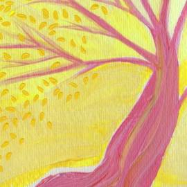 First Star Art  - Pink Tree With Leaves by jrr