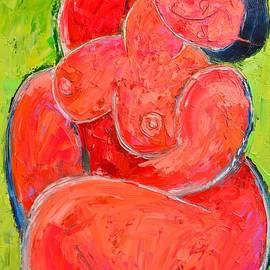 Ana Maria Edulescu - Pink Woman - Abstract Expressionist Nude