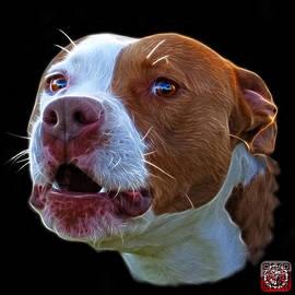 James Ahn - Pitbull 7769 - Bb - Fractal Dog Art
