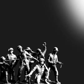Tony Rubino - Plastic Army Man Battalion Black and White