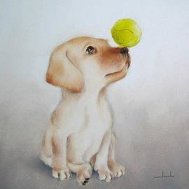 Junko Van Norman - Playful Puppy Nursery Art