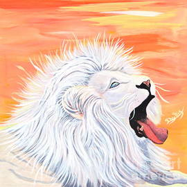 Phyllis Kaltenbach - Playful White Lion