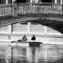 Joan Carroll - Plaza De Espana Rowboats BW