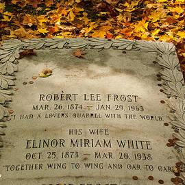 Robert Ford - Poet Robert Frost Gravestone Bennington Vermont