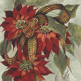 Meldra Driscoll - Poinsettia and Ribbon