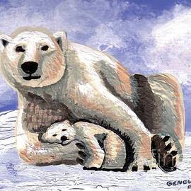 Genevieve Esson - Polar Bear With Cub