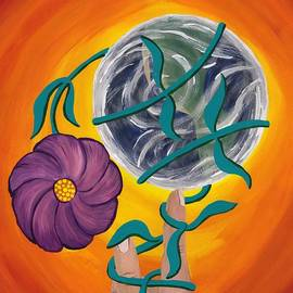 Barbara St Jean - Pondering Creation - Spinning Vines of Time