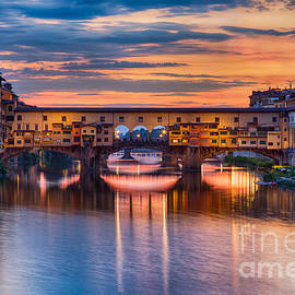 Michele Steffey - Ponte Vecchio at Sunset