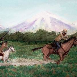 Larry Lamb - Pony express rider