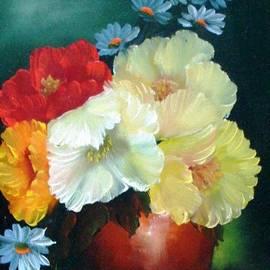 Fineartist Ellen - Poppies in a Copper Pot