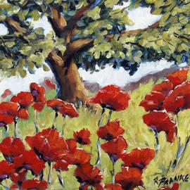 Richard T Pranke - Poppies in the Sun by Prankearts