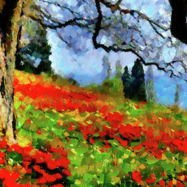 Georgiana Romanovna - Poppies On A Hill