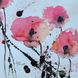 Ismeta Gruenwald - Poppies- painting