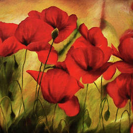 Georgiana Romanovna - Poppy Flowers At Dusk