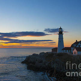 Diane Diederich - Portland Head Light at Sunrise
