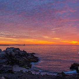 Michael Ver Sprill - Portland Head Light Panoramic Sunrise